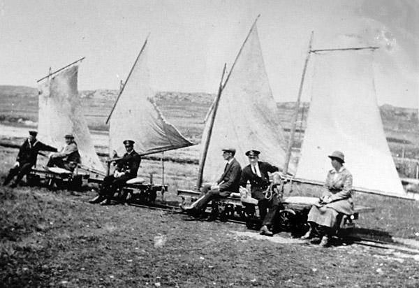 Sail-driven waggons